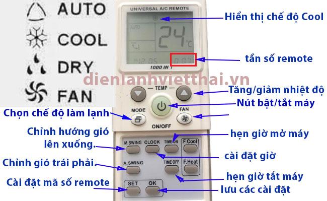 cách sử dụng remote máy lạnh đa năng