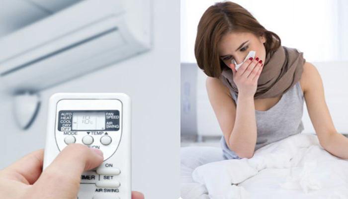 Mở nhiệt độ máy lạnh thấp vừa tốn điện vừa dễ bị cảm lạnh