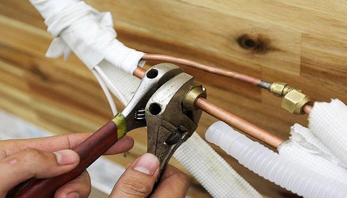 Kết nối ống đồng chắc chắn tránh xì gas