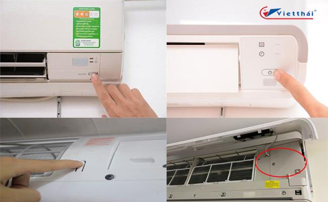 cách mở máy lạnh không cần remote