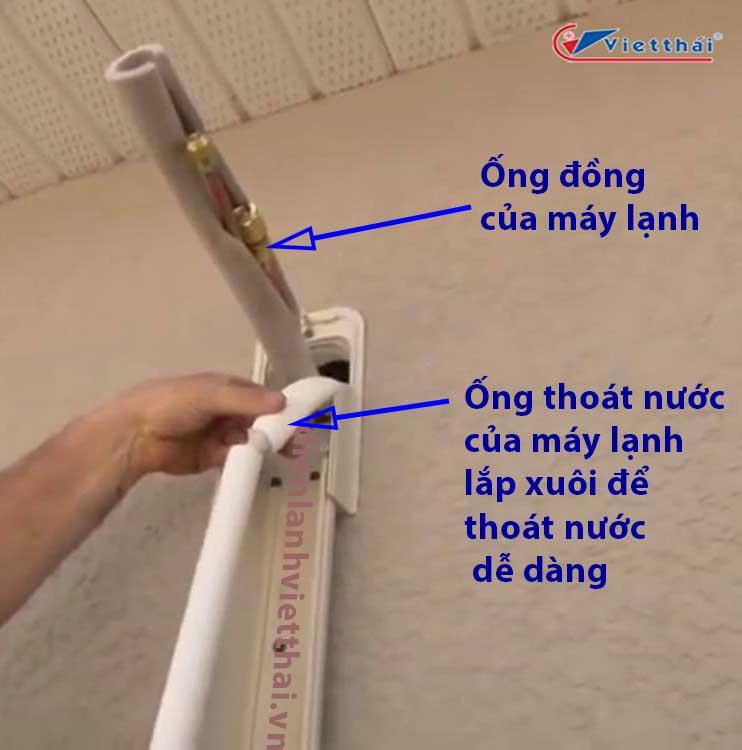lắp ống thoát nước máy lạnh
