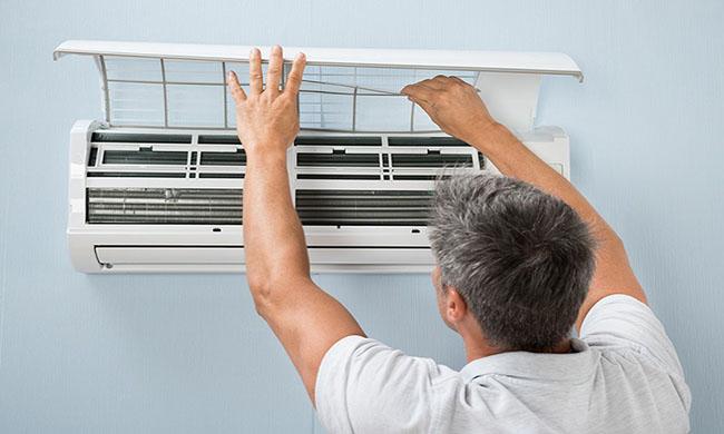 lau khô lắp lại vỏ máy lạnh