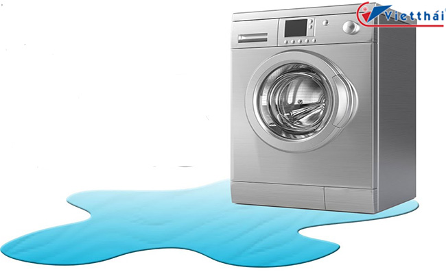 máy giặt bị chảy nước dưới gầm
