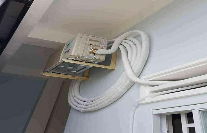Ống đồng quá dài khi lắp đặt máy lạnh gây lãng phí và nhanh hư máy lạnh