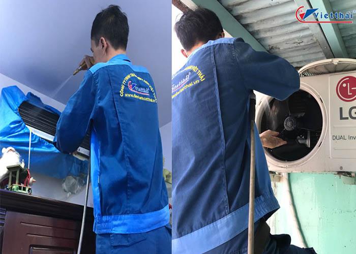 quy trình vệ sinh máy lạnh của Việt Thái