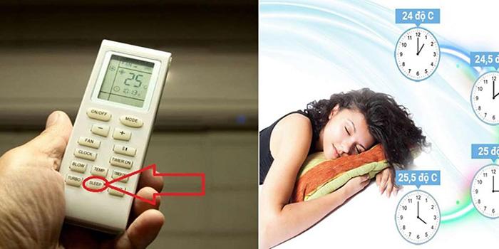 mở chế độ ngủ đêm sleep cũng là cách sử dụng máy lạnh tiết kiệm điện