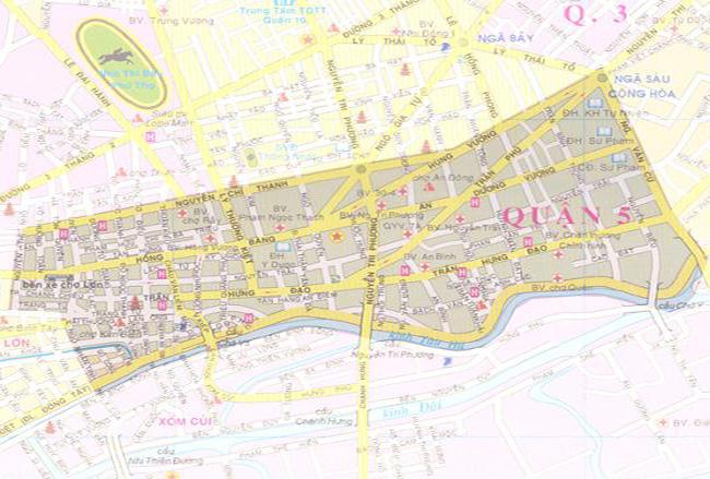Bản đồ dịch vụ sửa máy giặt tại q5