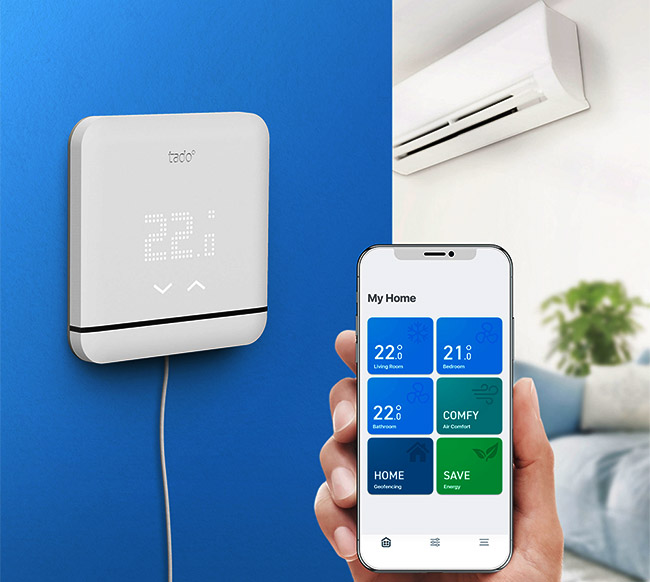 ứng dụng Tado-Cooling cài trên điện thoại IOS đièu khiển máy lạnh