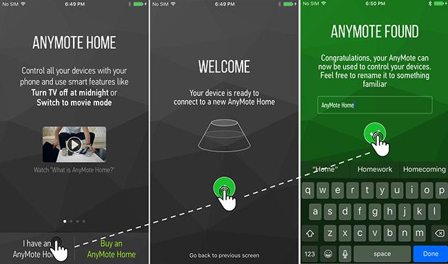 Cài ứng dụng anymote trong điện thoại iphone để điều khiển máy lạnh